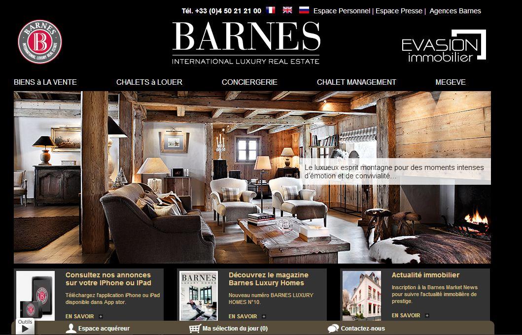Barnes ouvre une agence immobilière à Megève